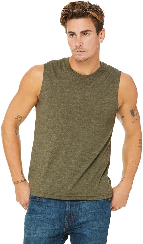 BellaCanvas Men's Jersey Muscle Tank
