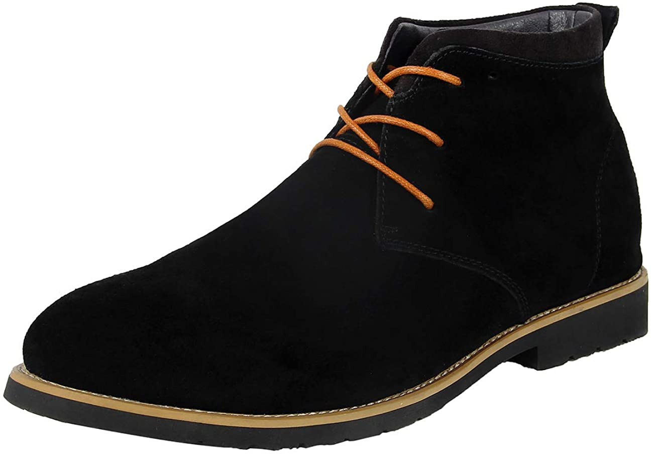 iloveSIA Men's Suede Leather Lace Up Oxfords Chukka Ankle Boots