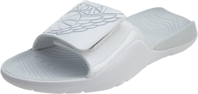 Jordan Nike Men's Hydro 7 Sandal (White/Pure Platinum, Numeric_8)