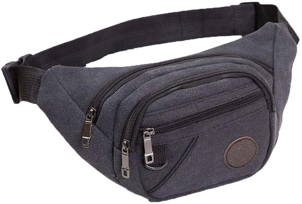 2020 Men Waist Packet Belt Bag Fanny Packs Multifunction Outdoor Waterproof Camouflage Bum Bag (Bblack)