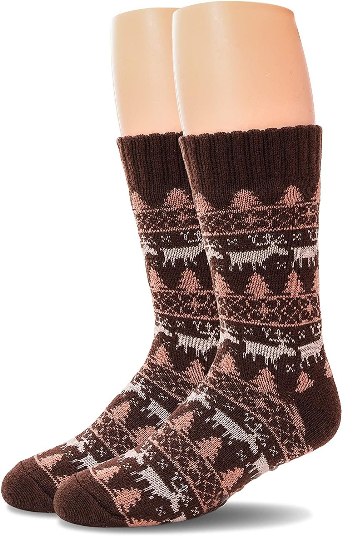 Mens Fuzzy Slipper Socks Soft Warm Thick Heavy Fleece lined Christmas Stockings Winter Socks