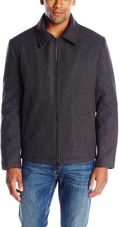 IZOD Men's Wool-Blend Jacket with Scarf