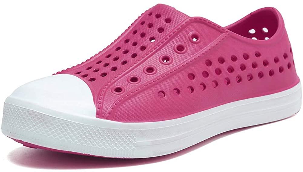 seannel Kids Water Shoes Slip-On Sneaker LightweightBreathable Sandal Outdoor & Indoor-U819STLXS001-Rose-21