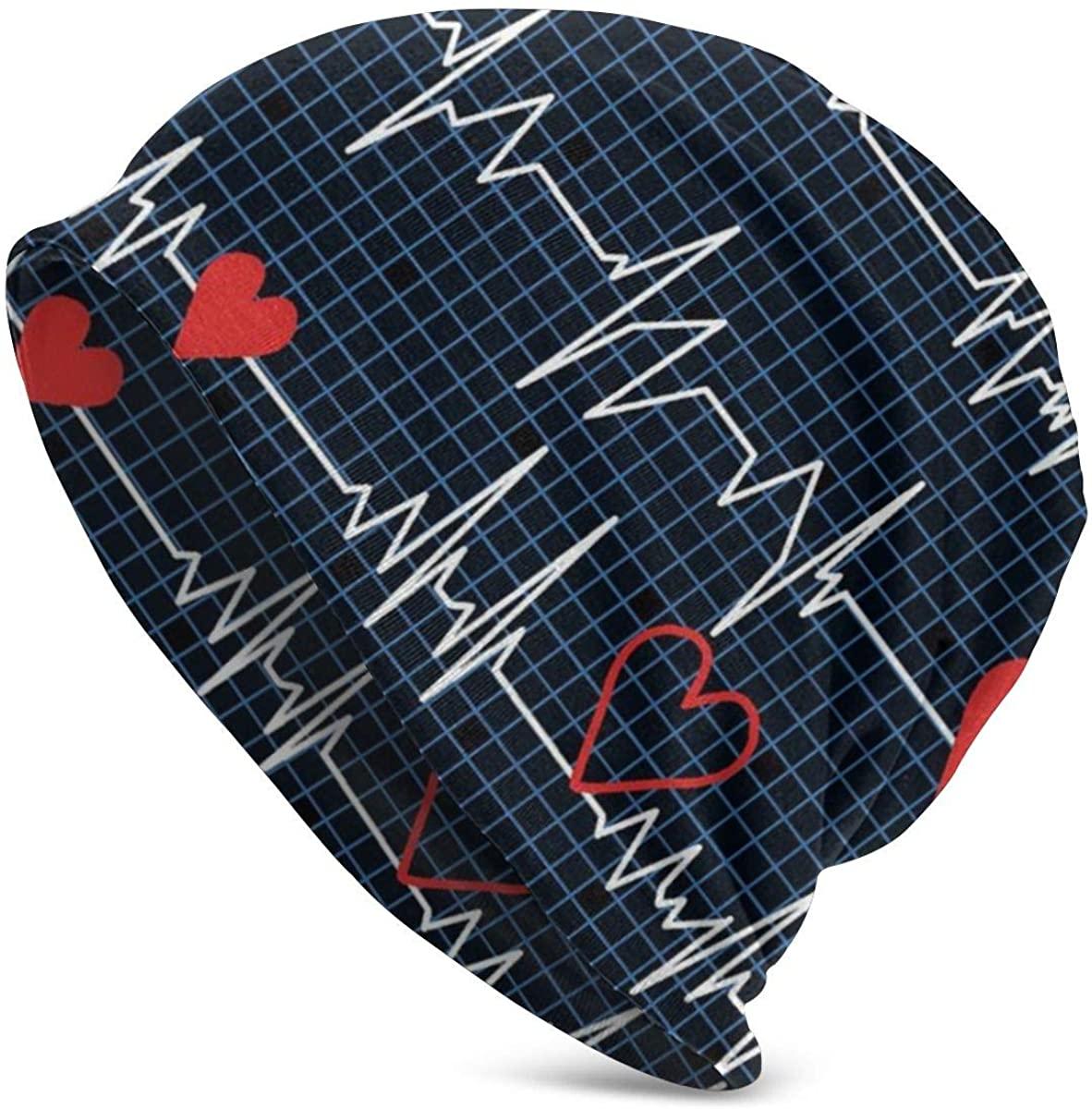 Medical Equipment Knit Skull Beanie Hat Cap for Men or Women Black