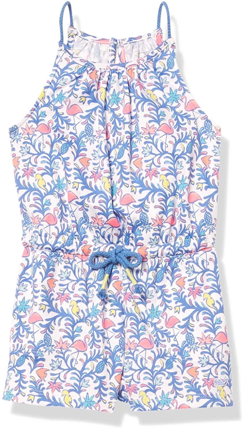 Vineyard Vines Girl's Floral Flamingos Knit Romper