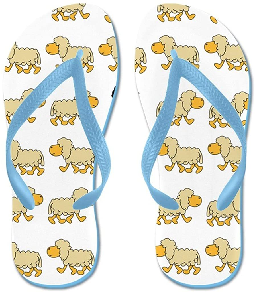 Lplpol A Sheep with Attitude Flip Flops Flip Flops for Kids and Adult Unisex Beach Sandals Pool Shoes Party Slippers