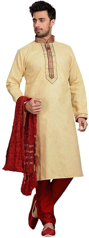 daindiashop-USA Kurta Pajama For Men Indian Designer Wedding Partywear Traditional Ethnic Festival Dress