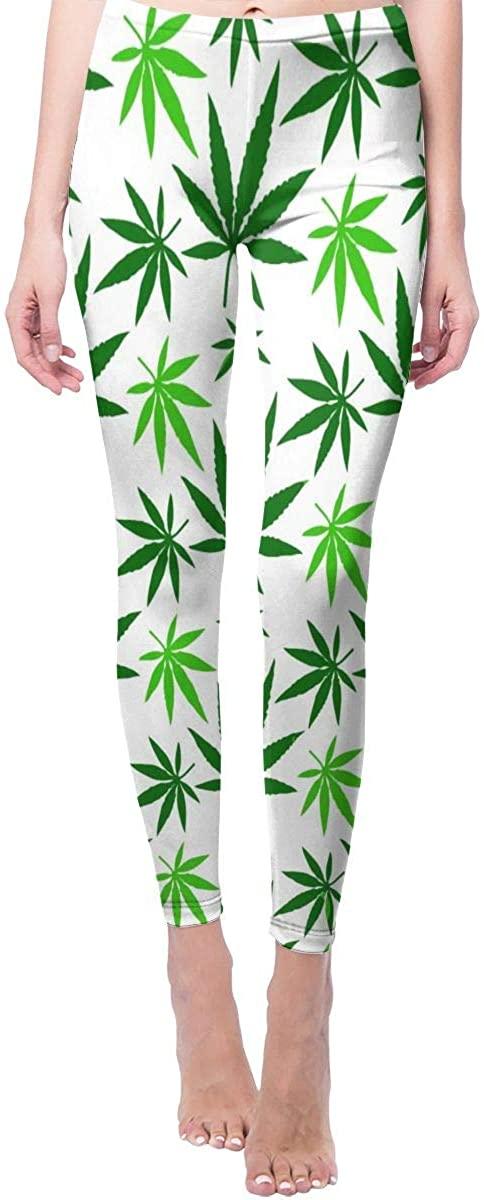 Game Life Leggings with Cannabis Hemp Leaf Pattern Yoga Pants Trousers Sweatpants
