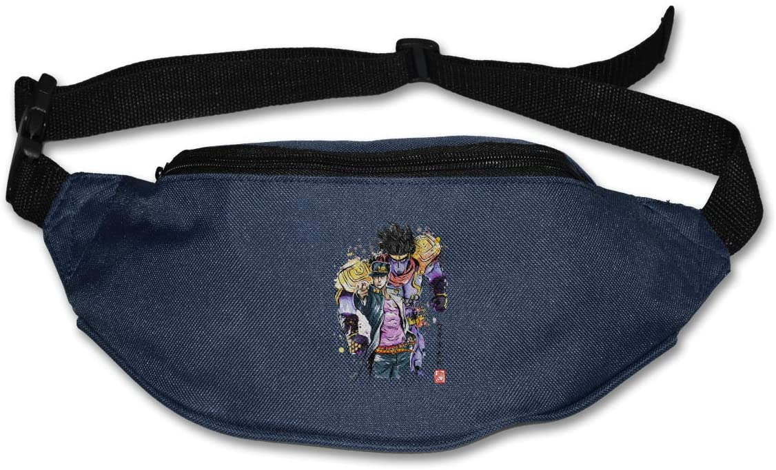 Hwxzviodfjg Jo-Jo'S Bizarre Adventure Adjustable Running Belt Waist Pack Belt Fanny Pack Navy