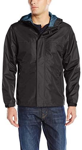 FOG by London Fog Men's Waterproof Breathable Seam Sealed Rip Stop Hooded Shell Jacket