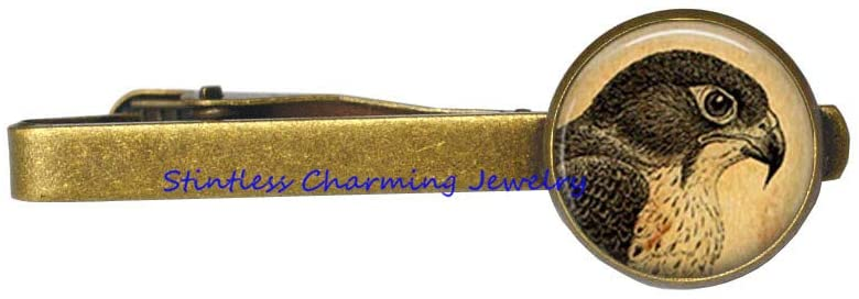 Animal Jewelry Bird Tie Pin Falcon Tie Clip,Bird Tie Clip,Animal Tie Clip,Dainty Tie Clip-JV397