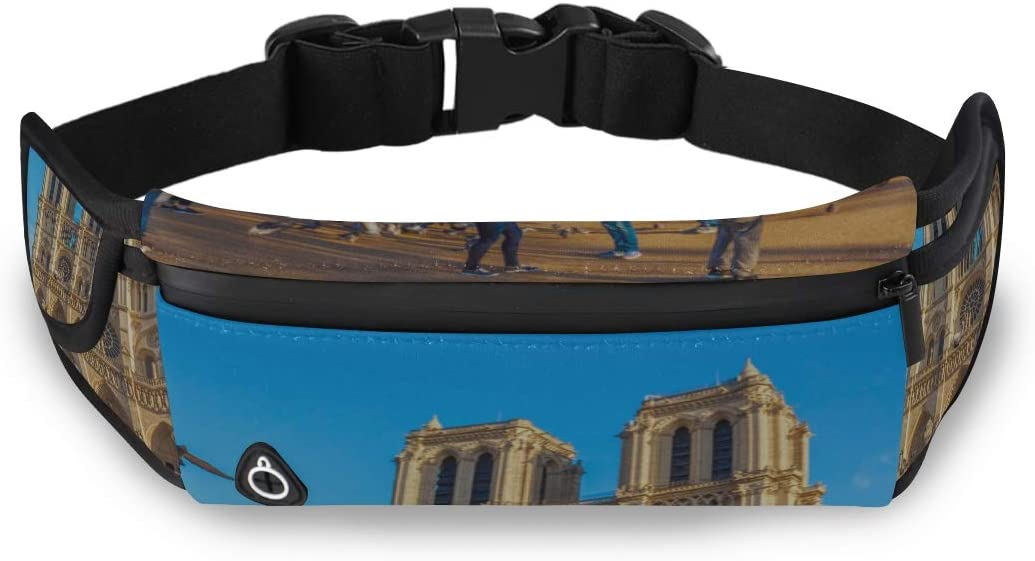 Classic Church Notre Dame De Paris Fashion Bags For Boys Woman Waist Pack Girl Waist Pack With Adjustable Strap For Workout Traveling Running