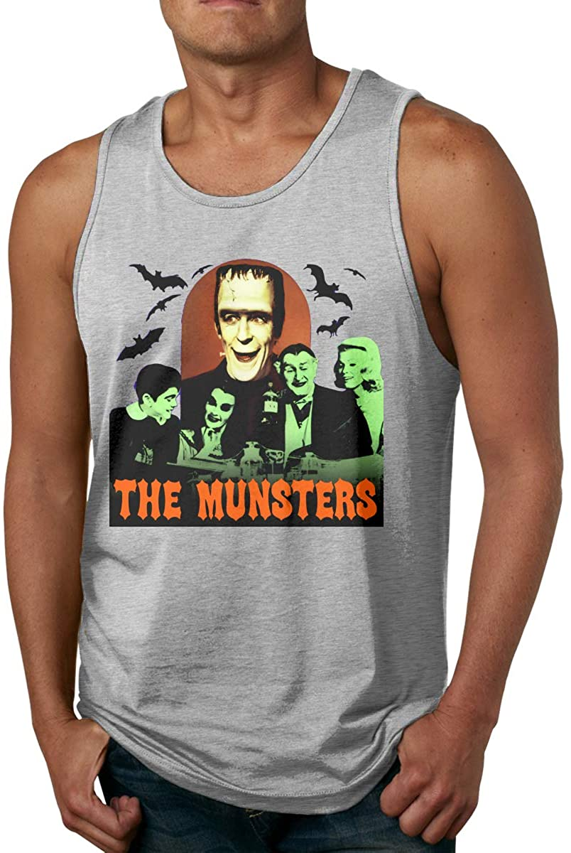 Zhengyu The Munsters Men Comfort Funny Cool Cotton Tank Top Shirt