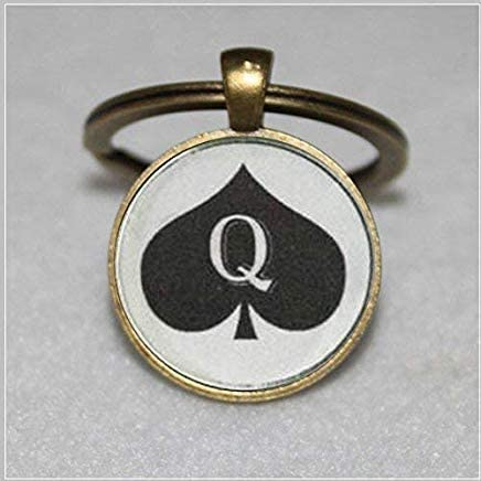 Queen of Spades Keychain Pendant Jewelry Charm