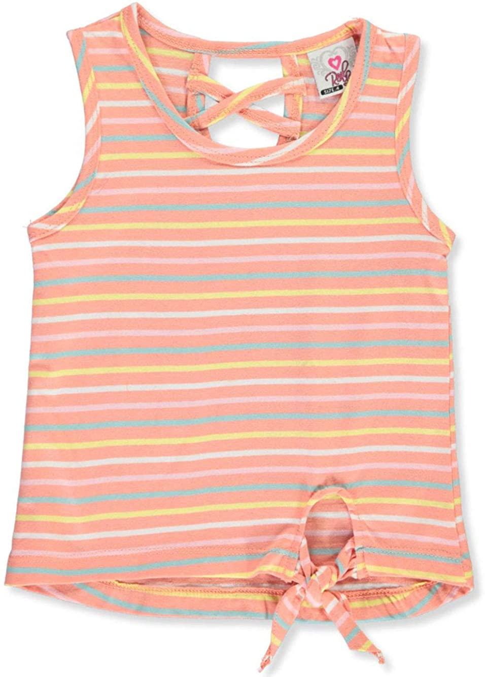 Real Love Toddler Stripe Tank Top - Orange/Multi, 2t