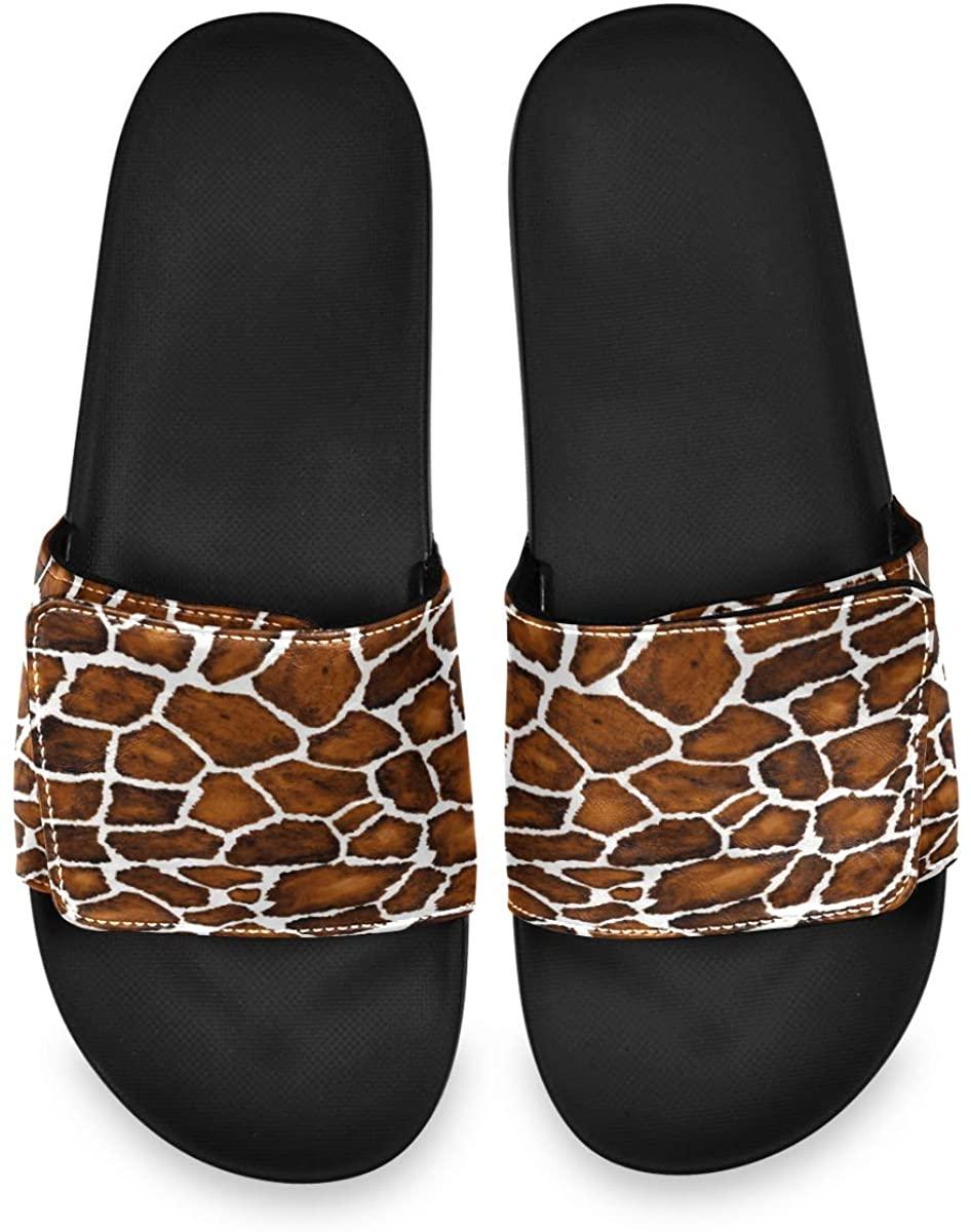 Fashion Animal Print Mens Summer Sandals Slide House Adjustable Slippers Non Slip Boys