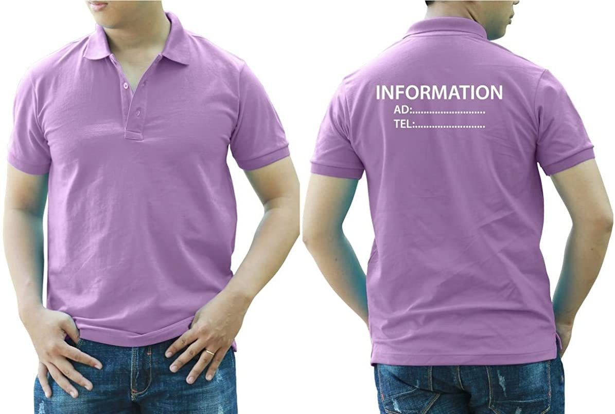 Add Your Logo Text Design Image Picture. Custom Polo. Personalized Polo. Embroidered On Polo & T-Shirt Uniform with Multi Sides. International Pack of 10 Purple