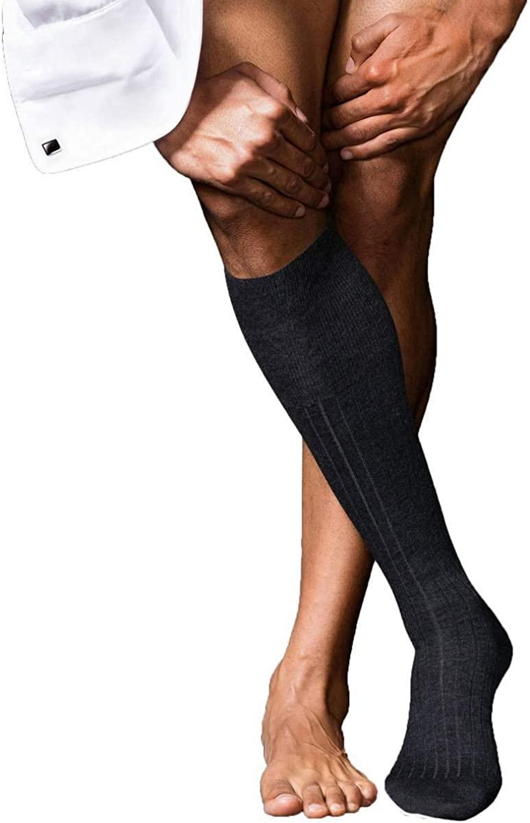 Falke Mens No2 Finest Knee High Cashmere Socks - Anthracite Grey