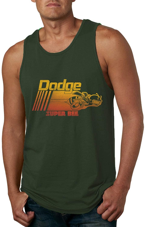 Dodge Super Bee Classic Retro Hot Rod Logo | Mens Cars and Trucks Graphic Tank Top