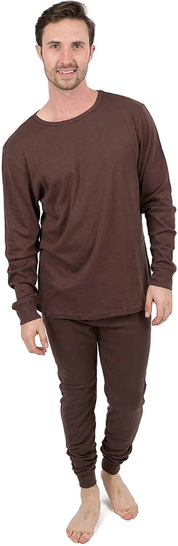 Leveret Mens Pajamas Solid Colors 2 Piece Pajama Set 100% Cotton (Size Small-XX-Large)