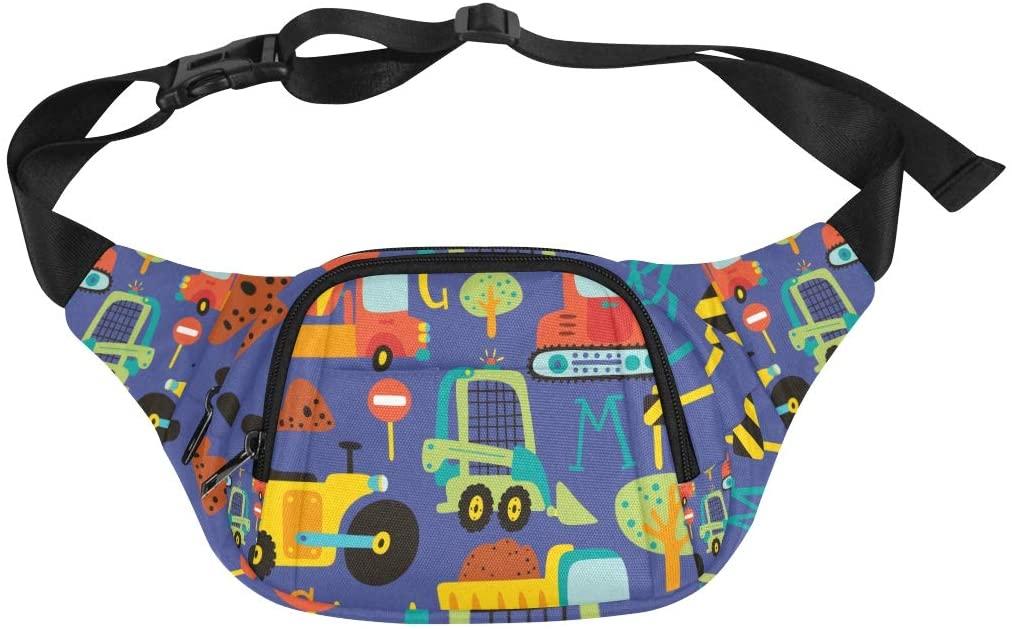 Fashionable Travel Bag Pastoral Agricultural Vehicle Excavator Adjustable Belt Waterproof Nylon Fenny Pack Lightweight Waist Pack Kid Waist Bag Kids Fashion Bags