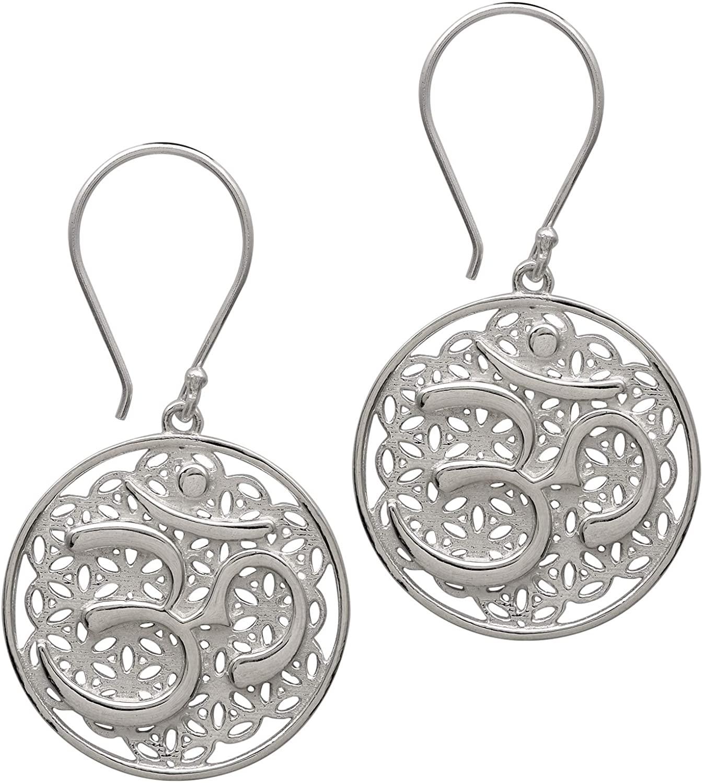 Silver Earring, 925 Sterling Silver Hindu Lord OM Celtic Earring Jewelry