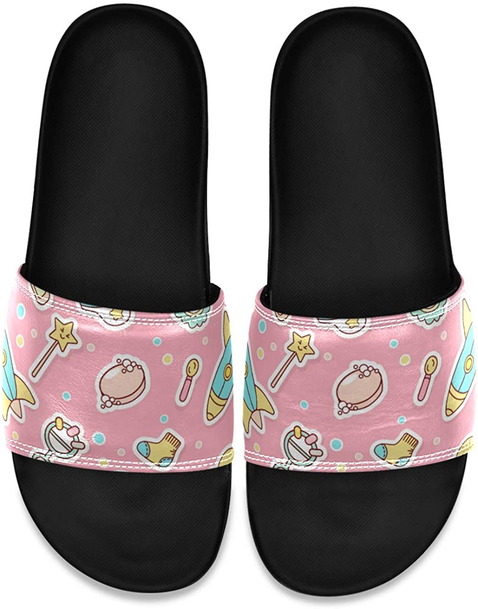 Men's Shower Slides Seamless Baby Things Slide Sandal, Slippers, Sandals for Men
