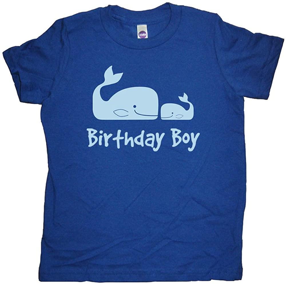 Sunshine Mountain Tees Boys Whale Pair Birthday Shirt