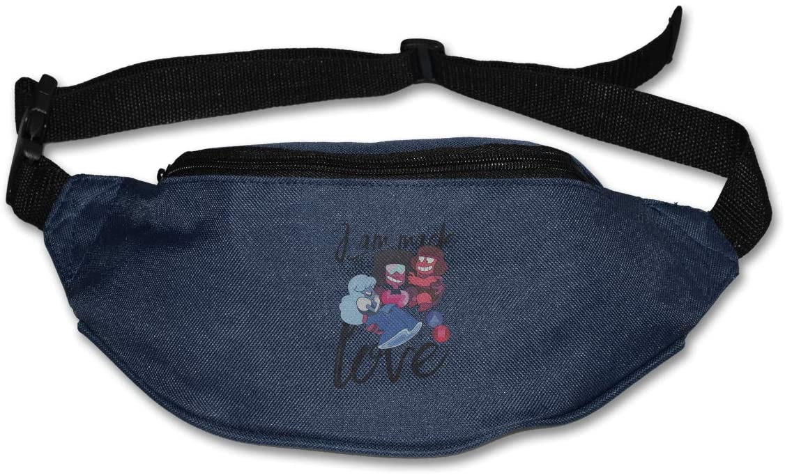 Ertregysrtg Steven Universe Made of Love Runner's Waist Pack Fashion Sport Bag