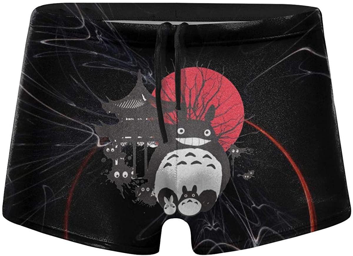 Sunliangmai My Neighbor Totoro Japan Spirits Swimsuit Boxers Swimwear Trunks Quick Drying Waterproof Men Boy
