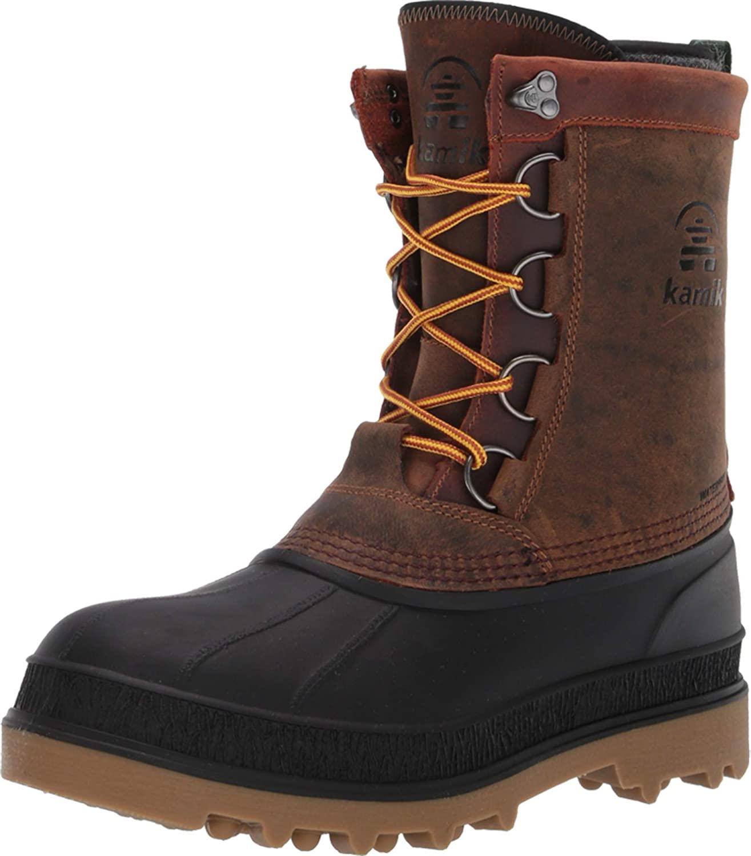 Kamik Men's Snow Boots, Gaucho Brown Brun Gaucho, 8 US