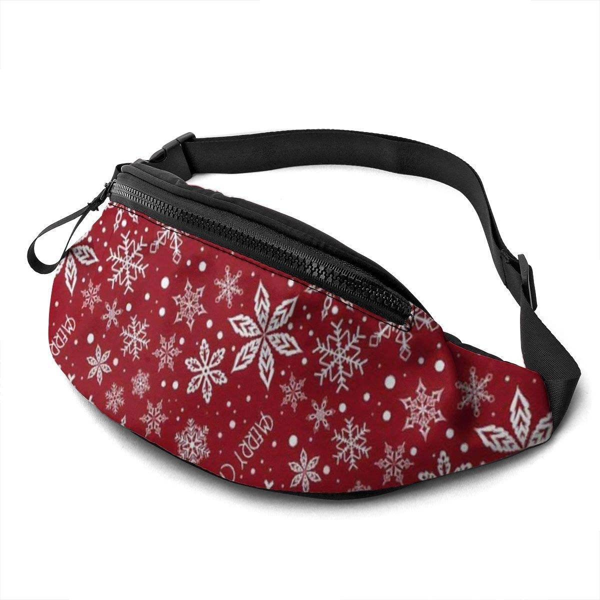 Snowflake Fanny Pack For Men Women Waist Pack Bag With Headphone Jack And Zipper Pockets Adjustable Straps