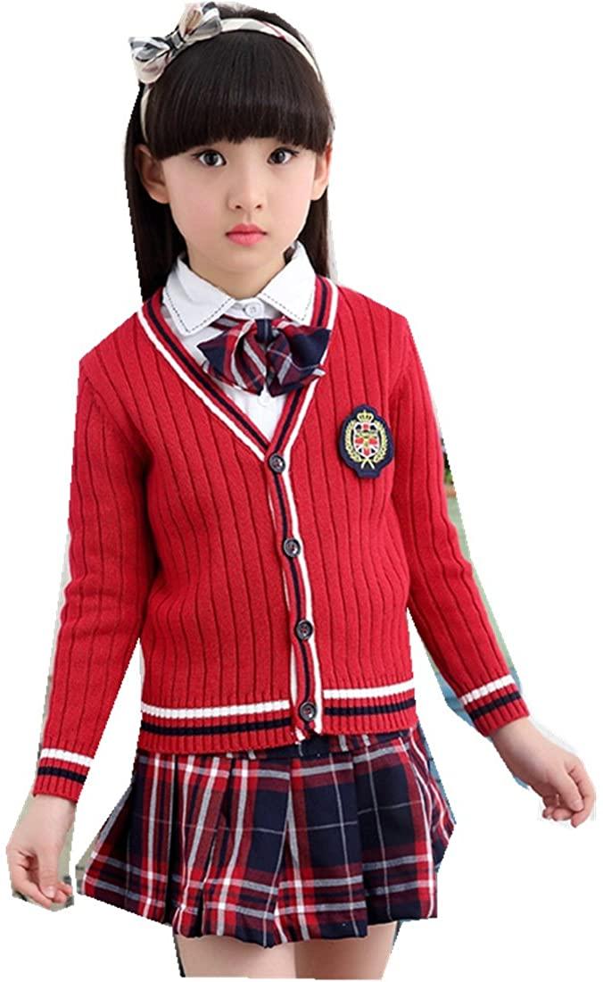 MV Korean School Clothes Suit Uniforms Children's Clothing Student Three Pieces Set