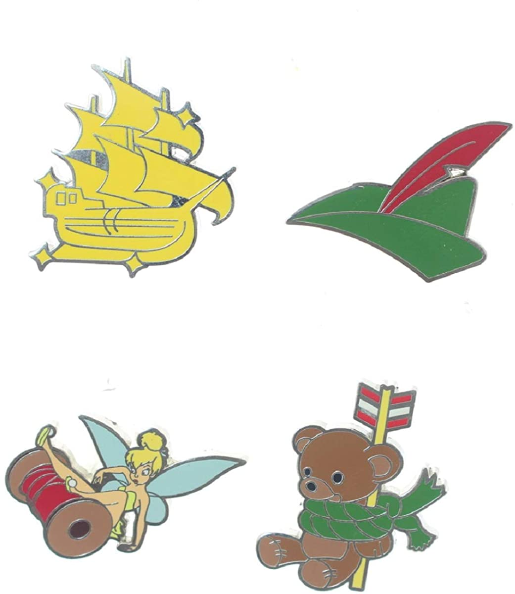 Disney Peter Pan Icons 4 Pin Set