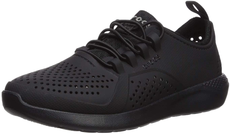 Crocs Kids' LiteRide Pacer Sneaker, Black/Black, 13 M US Little Kid