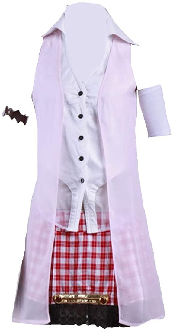 DUNHAO COS Anime Women's Final Fantasy 13 FF13 Serah Farron Cosplay Short Dress Costume for Women