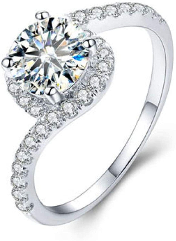 GemsIndustry 14k White Gold Moissanite Anniversary Designer Fine Ring
