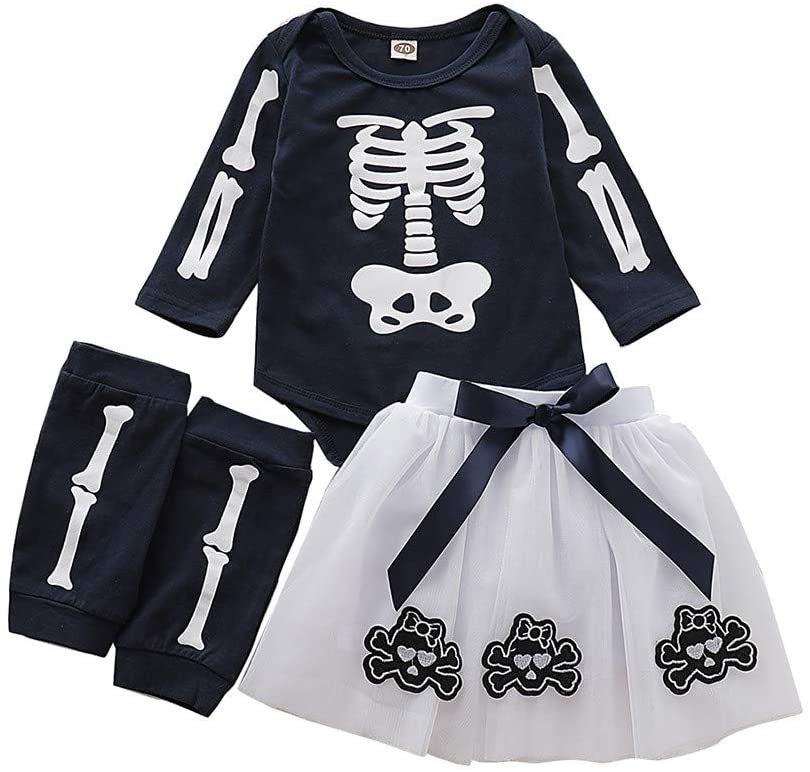Valcatch Baby Girls Boys Halloween 4Pcs Outfits Set Pumpkin Festival Clothing Set