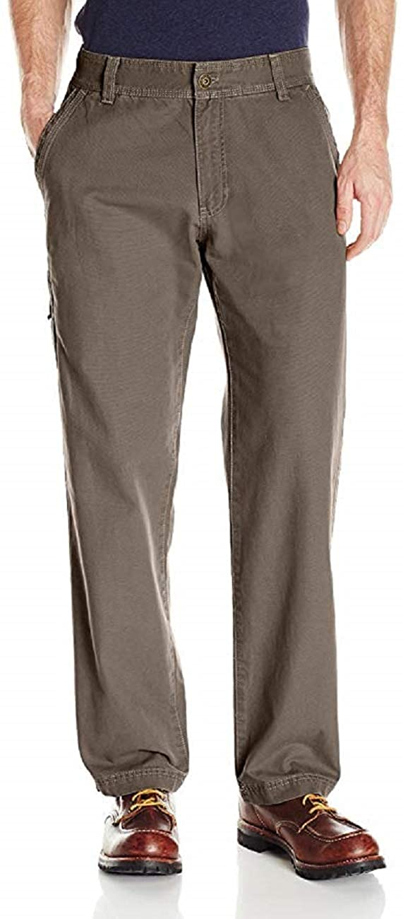 G.H. Bass & Co. Men's Flat Front Canvas Terrain Pant (Olive Brown,36X34)
