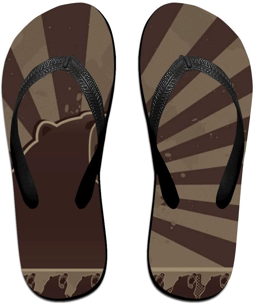 seaEagle Bear Pride Roar Slipper Flip Flop Shower Sandals
