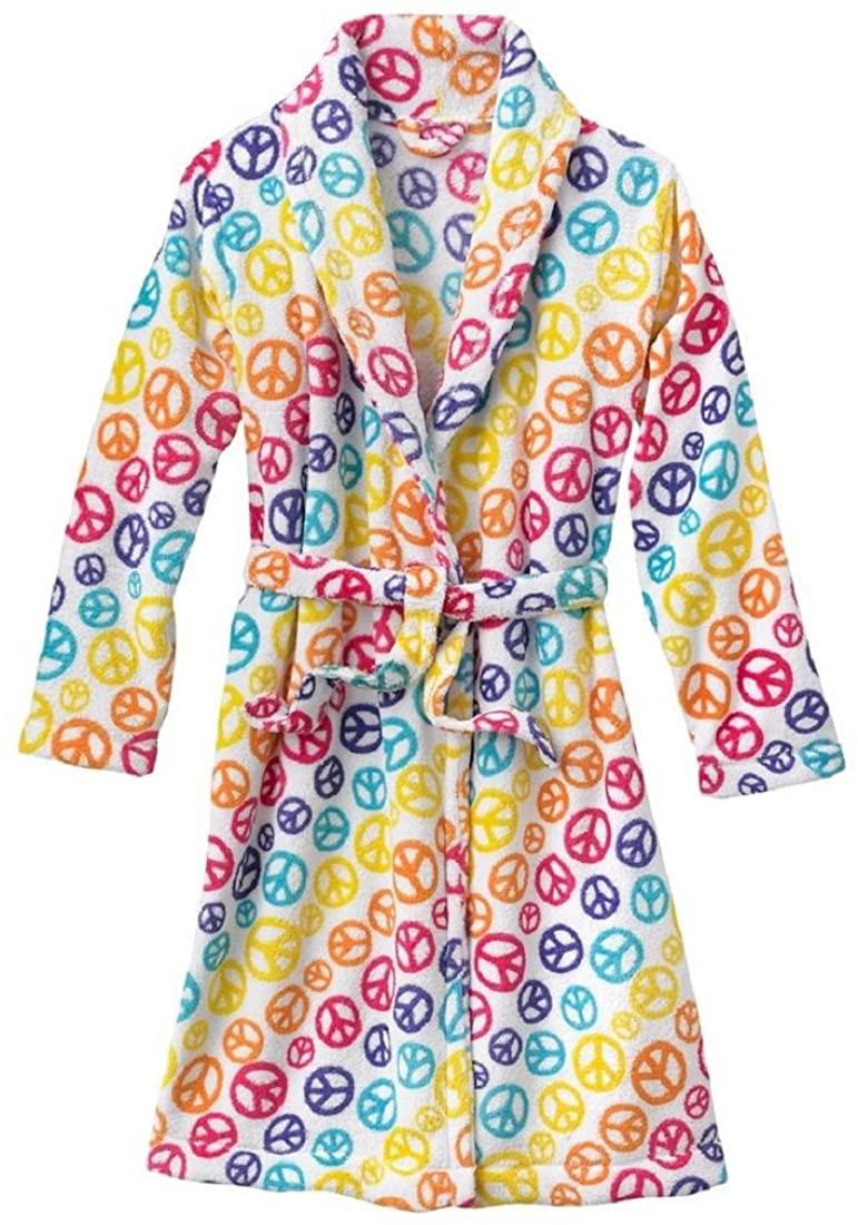 SO Little Girls' Peace Fleece Robe