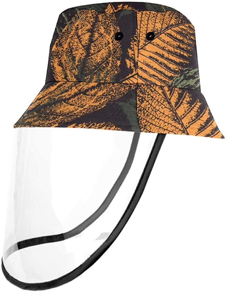 Faded Leaves Prints Casual Hat Fisherman Cap UV Sun Hats for Boys