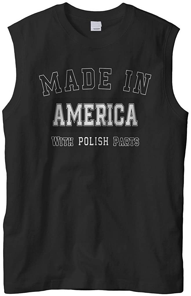 Cybertela Men's Made in America with Polish Parts Sleeveless T-Shirt