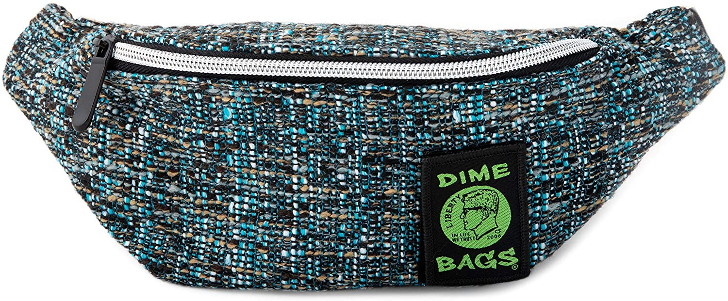 Dime Bags Stash Pack | Fanny Pack for Hiking, Running, and Workout | Hip Travel Bag for Men and Women | Hemp Hip Pack with Belt | Our Fanny Packs fit iPhone and Galaxy (Glass)