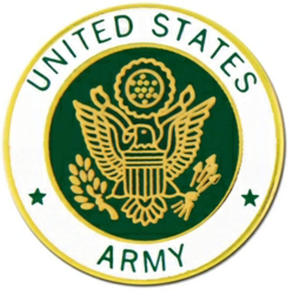 US Army Emblem Lapel Pin or Hat Pin (metal, 7/8
