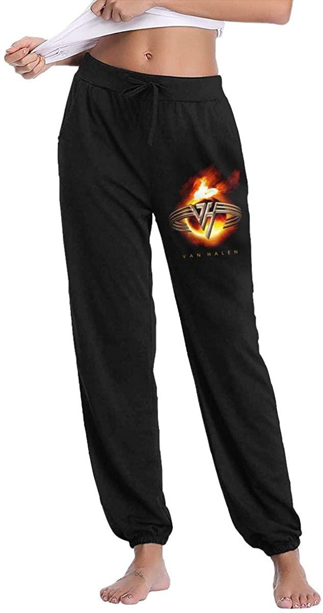 Ladies Van Halen Logo Breathable Comfortable Trousers Sweatpants