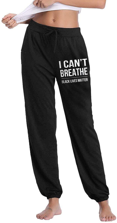 Ingqkuhua I Can't Breathe Black Lives Matter Slacks Sweatpants Trousers Womans Casual Pants