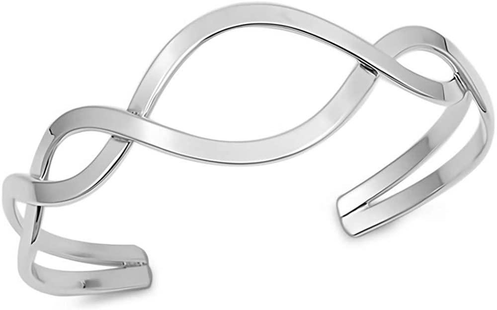 Glitzs Jewels 925 Sterling Silver Bangle Bracelet   Jewelry for Women and Girls