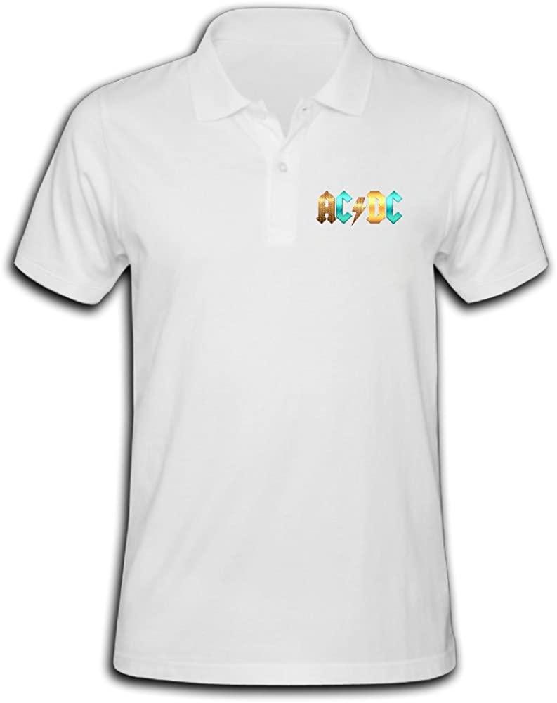 Tinzawsh ACDC Logo Band Fun Pique Polo T-Shirt For Men