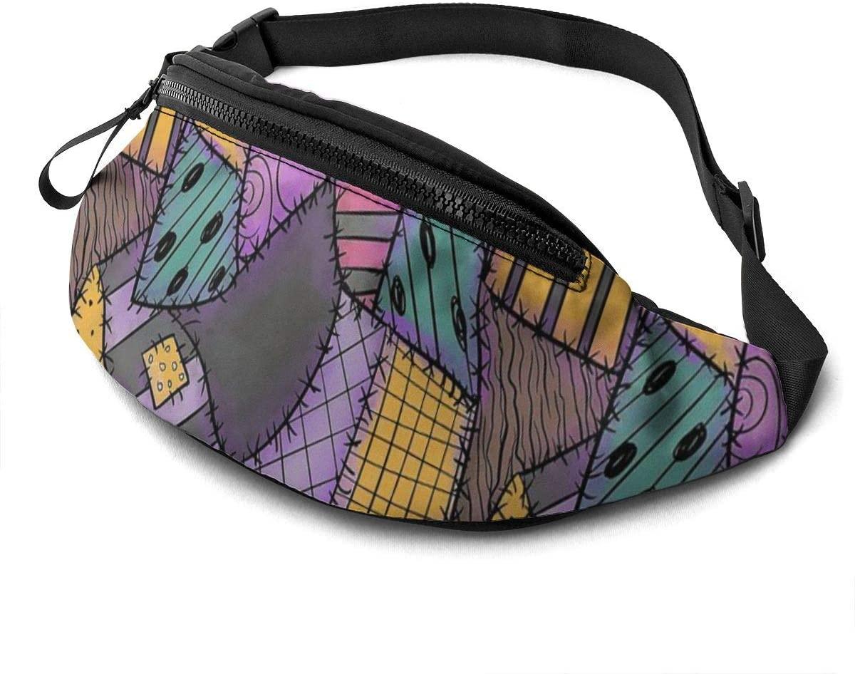 Patchwork Ragdoll Fanny Pack For Men Women Waist Pack Bag With Headphone Jack And Zipper Pockets Adjustable Straps